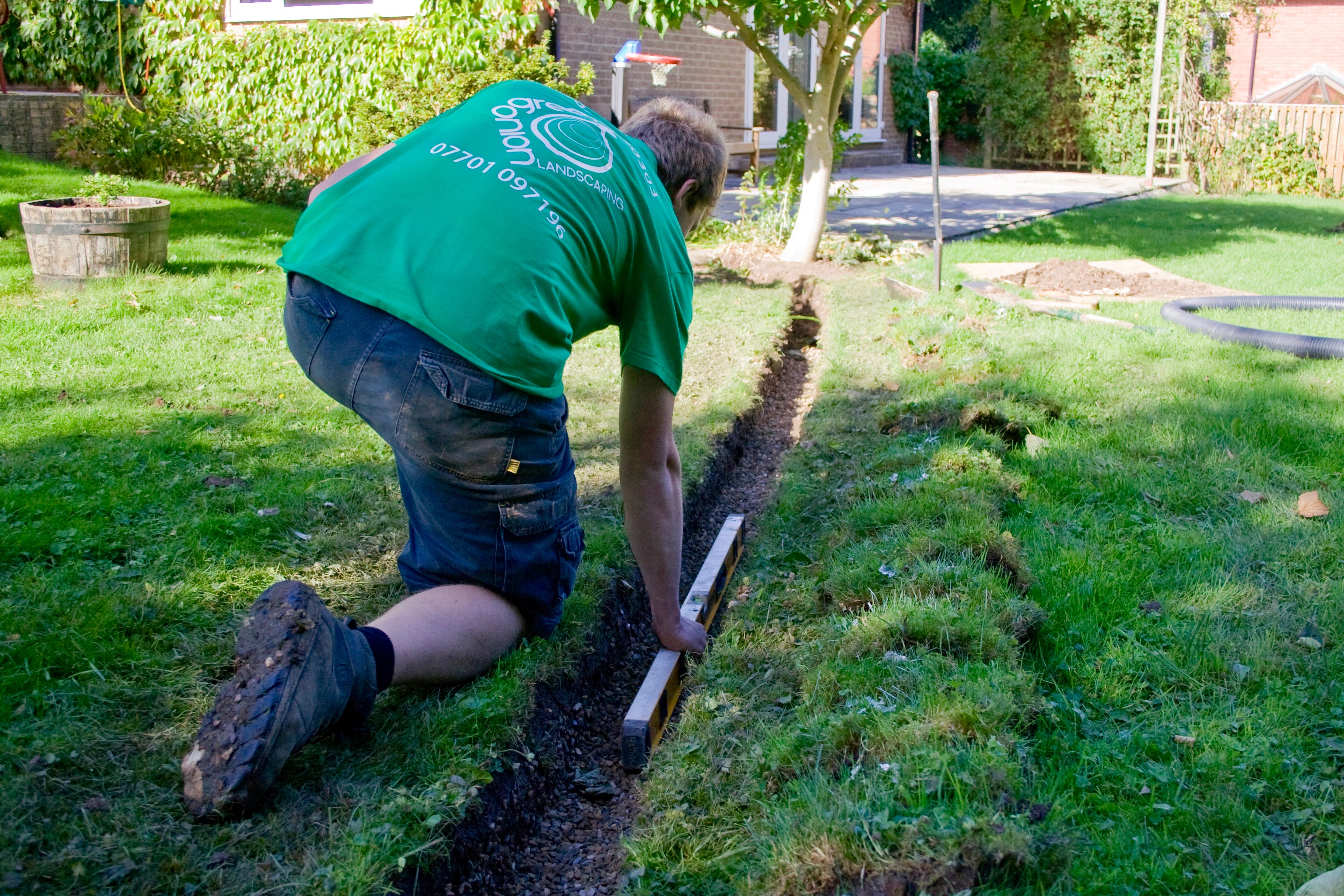 Garden drainage solutions green onion landscaping for Garden drainage system