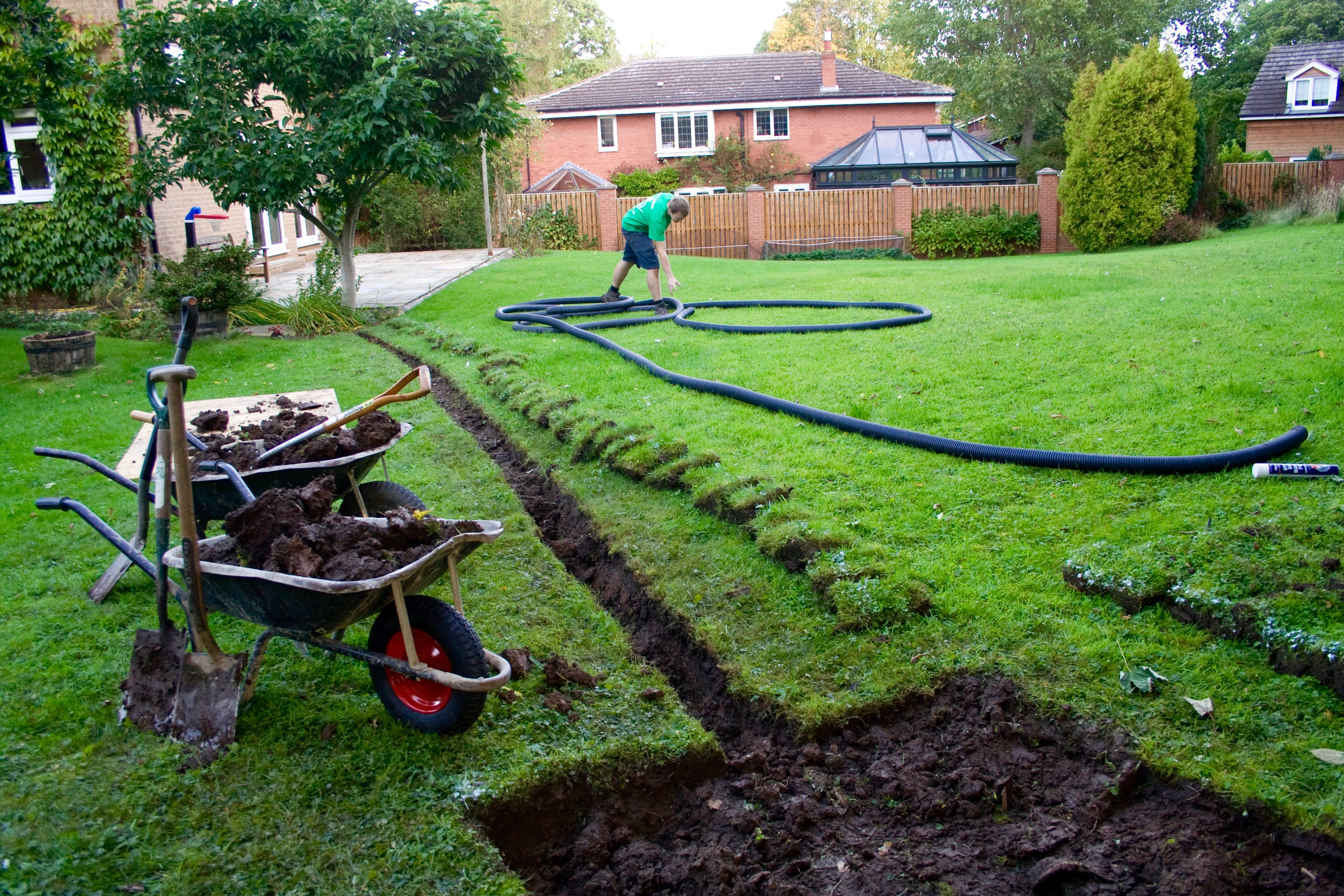 Garden drainage solutions stockton green onion landscaping for Garden drainage system