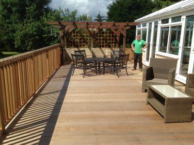 Garden drainage flood defence stockton middlesbrough for Garden decking middlesbrough