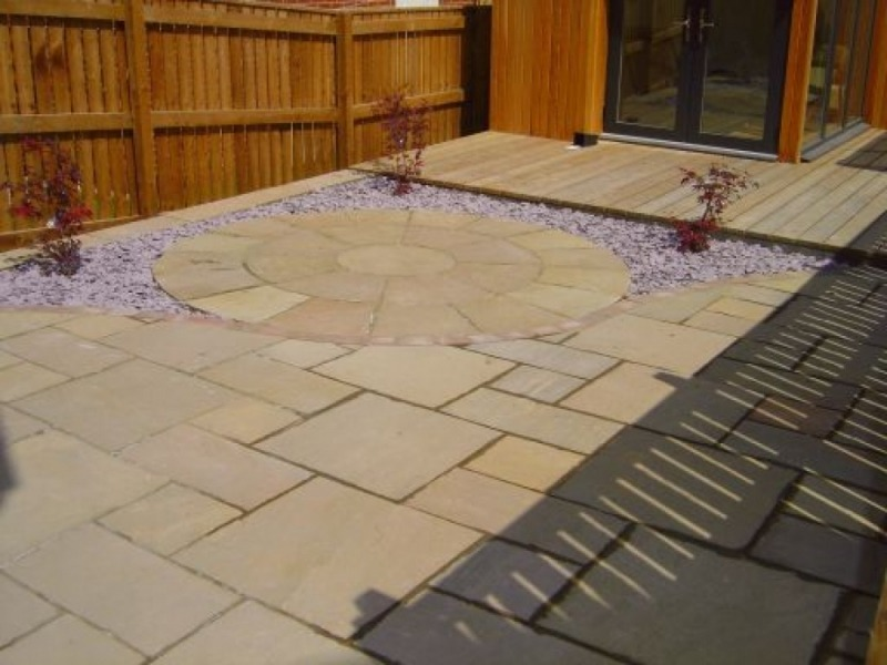 Indian sandstone patios green onion landscaping for Indian garden design