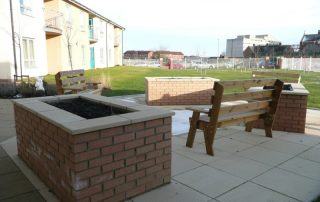 Raised beds, Stockton, landscapers, Green,Onion, Landscaping, paving