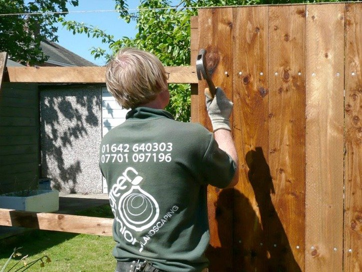 close board fencing, garden fence, security fencing, slat panel fencing, decorative fencing, boundary fence, timber fencing, solid fence, garden design, landscaping, landscapers, garden design, hard landscaping, Teesside, Stockton, Middlesbrough, Darlington, County Durham,
