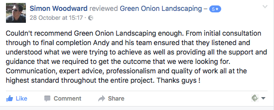 Customer review, feed back, landscaping, landscapers, landscape garden design Stockton, darlington, Middlesbrough, County Durham, North Yorkshire