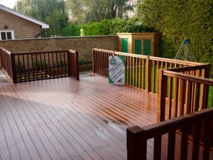 raised decking,lareg decked area, garden storage, outdoor storage, decked, decking, wooden decking, timber decking, composite decking, landscapers, landscaping, Green Onion Landscaping, Stockton, darlington, County Durham, Middlesbrough, North Yorkshire, Garden design,