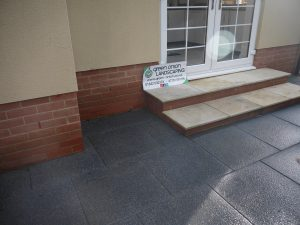 Moder, contemporary, patios, patio, paved area, Tobermore, scottish pebbles, design, gardening, landscaping, landscapers, Teesside, steps, sandstone, Middlesbrough, Marton, Teesside,