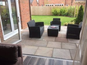 turfing, patio,sandstone, Green Onion landscaping, Stockton, darlington, Teesside, Tees Valley, Durham, North Yorkshire, drainage, planting, landscaping, landscapers, garden design, turfing,
