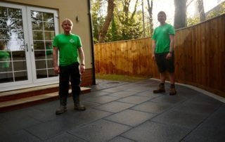 Porcelain tiles, outdoor porcelain tiles, Contemporary patio, patio design, patio, patios, garden design, fencing, Tobermore paving, Middlesbrough, Marton, Teesside, Fences, Green Onion Landscaping, About us,