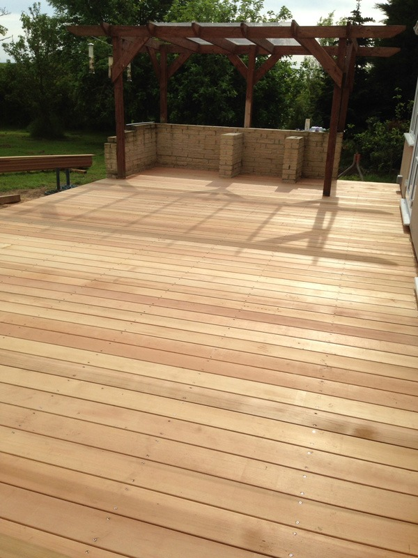 hard and soft landscaping- cedar wood decking, Stockton, darlington landscapers, Green, Onion, Landscaping