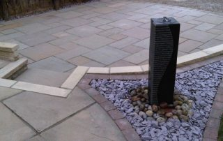Water feature, granite, landscapers Stockton, Green Onion Landscaping, Paving, slate, patio