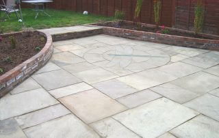 landscapers Stockton-Green-Onion-Landscaping- patio-sandstone-Yarm-Stockton-Dragonfly patio-brick walls-