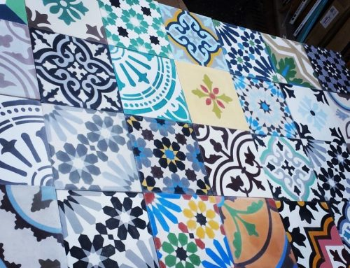 Encaustic Moroccan patchwork tiles